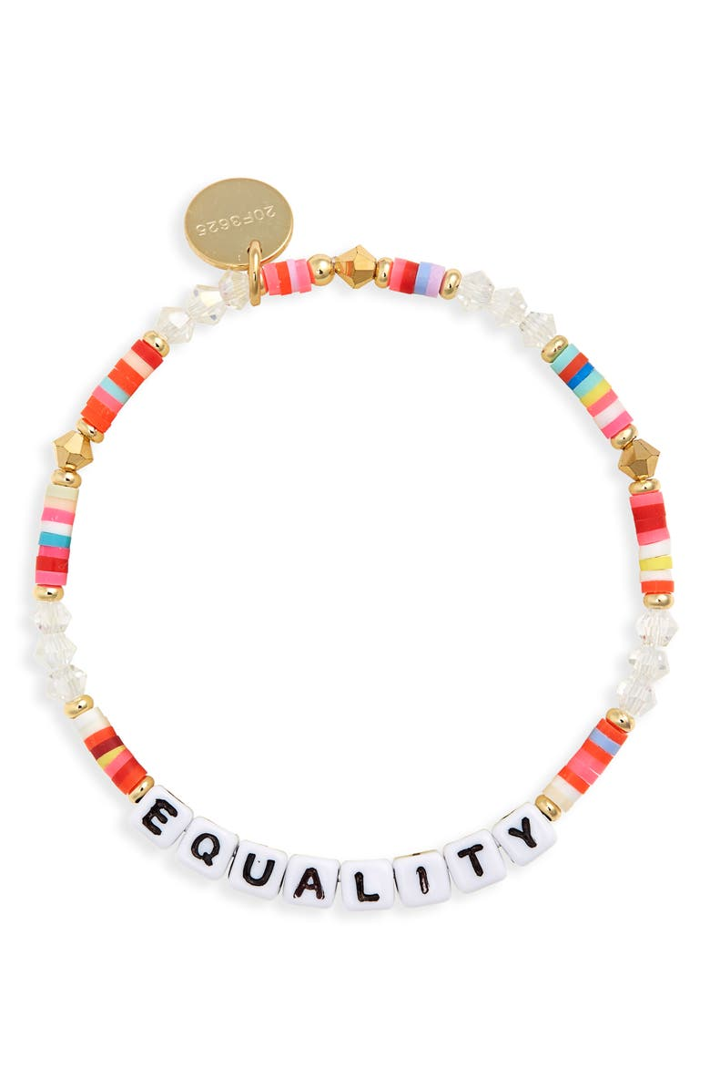 LITTLE WORDS PROJECT Equality Beaded Stretch Bracelet, Main, color, 960