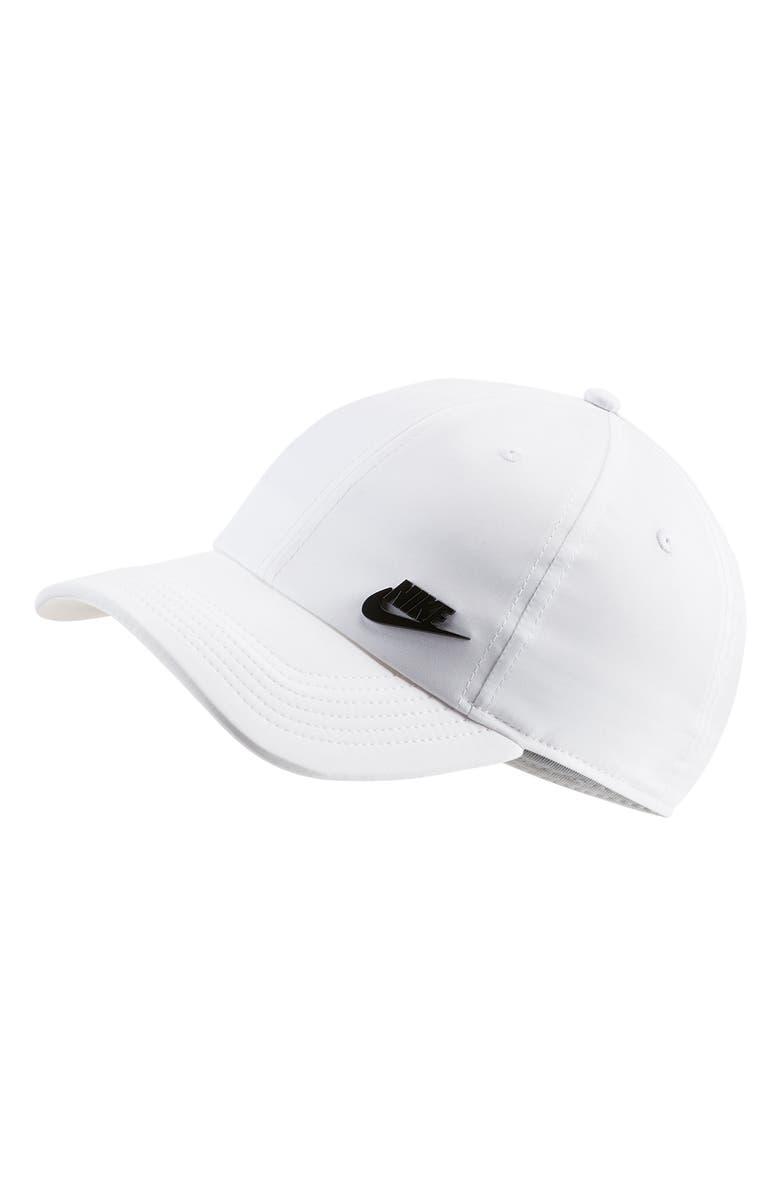 NIKE AeroBill H86 Baseball Cap, Main, color, WHITE/BLACK