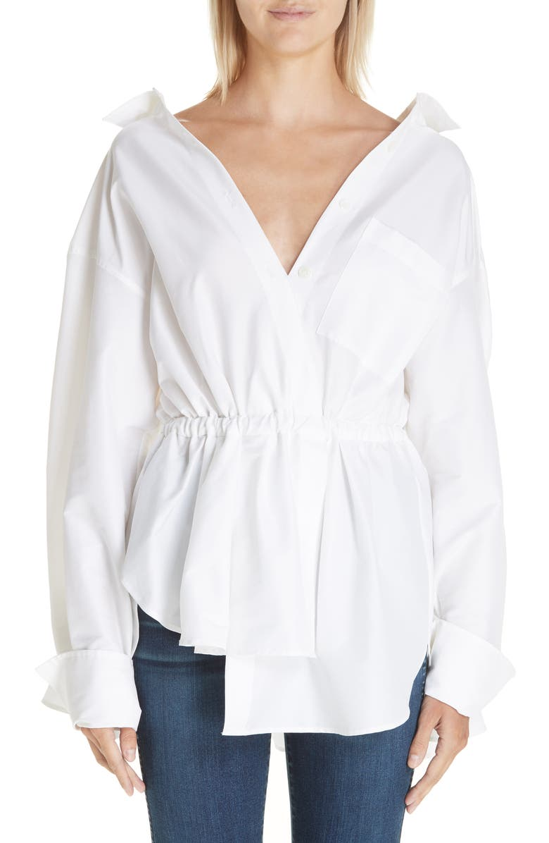BY ANY OTHER NAME High/Low Shirt, Main, color, WHITE