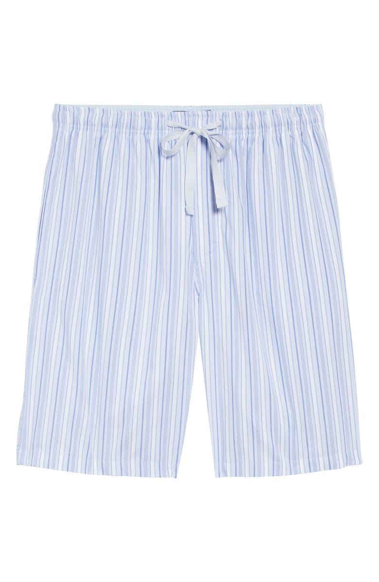 NORDSTROM MEN'S SHOP Poplin Lounge Shorts, Main, color, BLUE FEATHER JAMES STRIPE