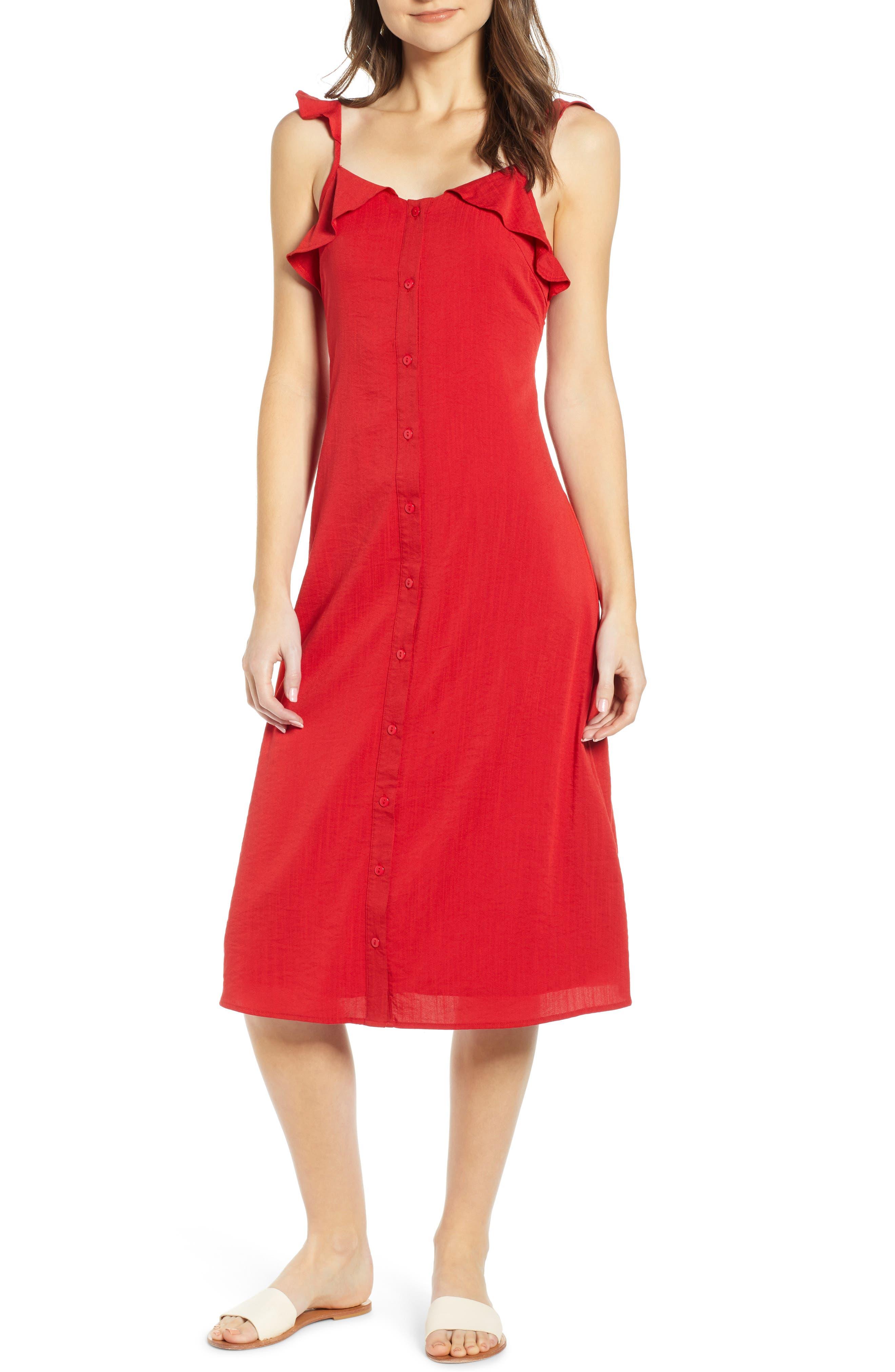 Lira Clothing Ash Dress, Red