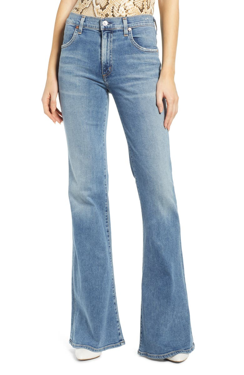 CITIZENS OF HUMANITY Chloe High Waist Flare Jeans, Main, color, 474