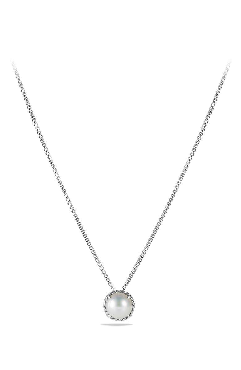 DAVID YURMAN 'Châtelaine' Pendant Necklace, Main, color, PEARL