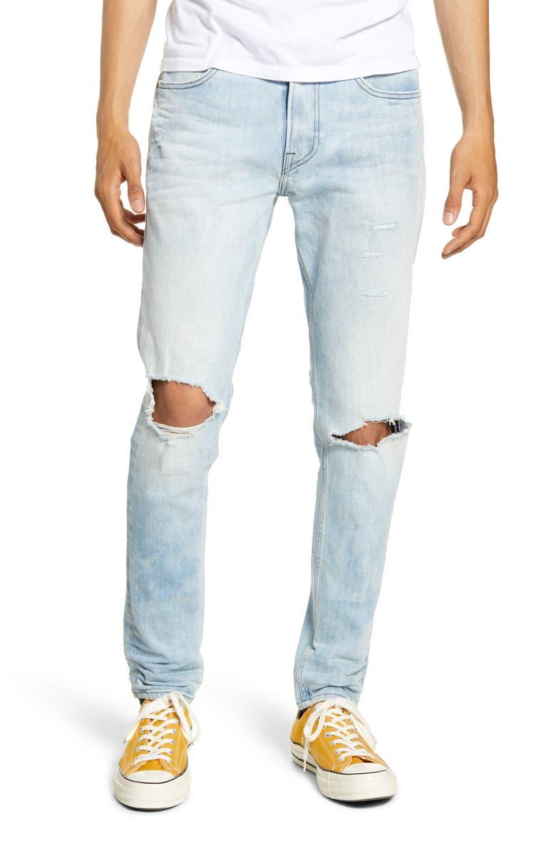 HUDSON JEANS Zack Ripped Skinny Fit Jeans, Main, color, ARENA