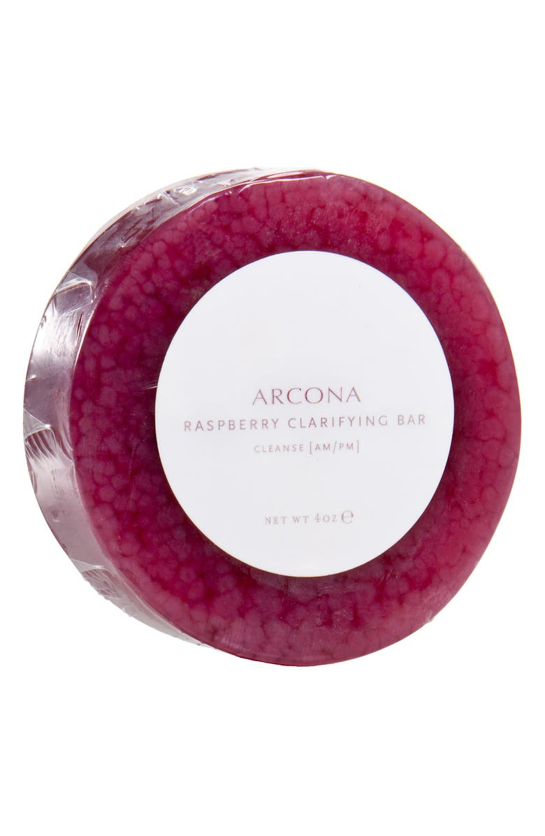 ARCONA Raspberry Clarifying Bar Cleanser, Main, color, NO COLOR