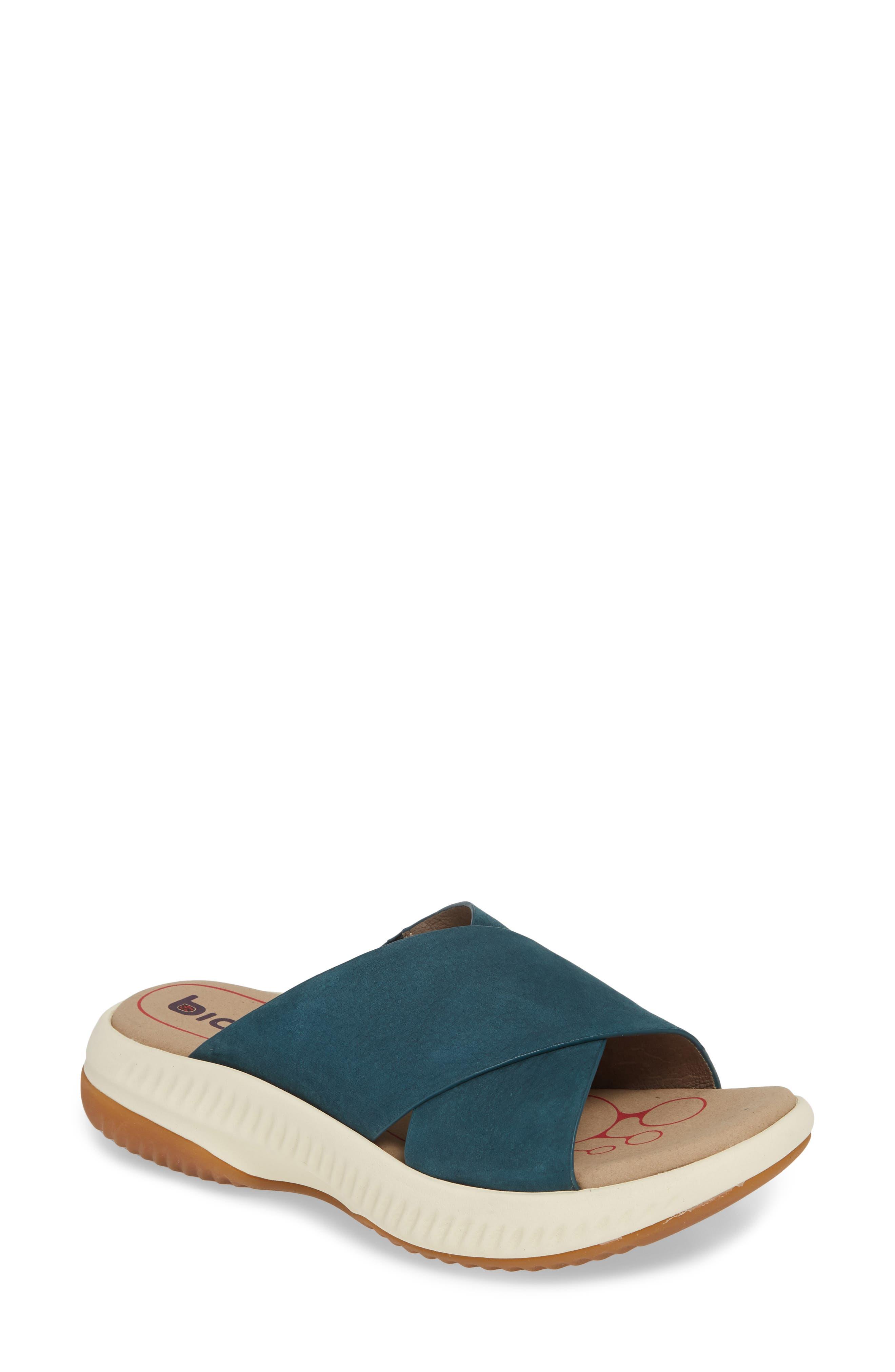 Bionica Ambridge Slide Sandal, Blue/green