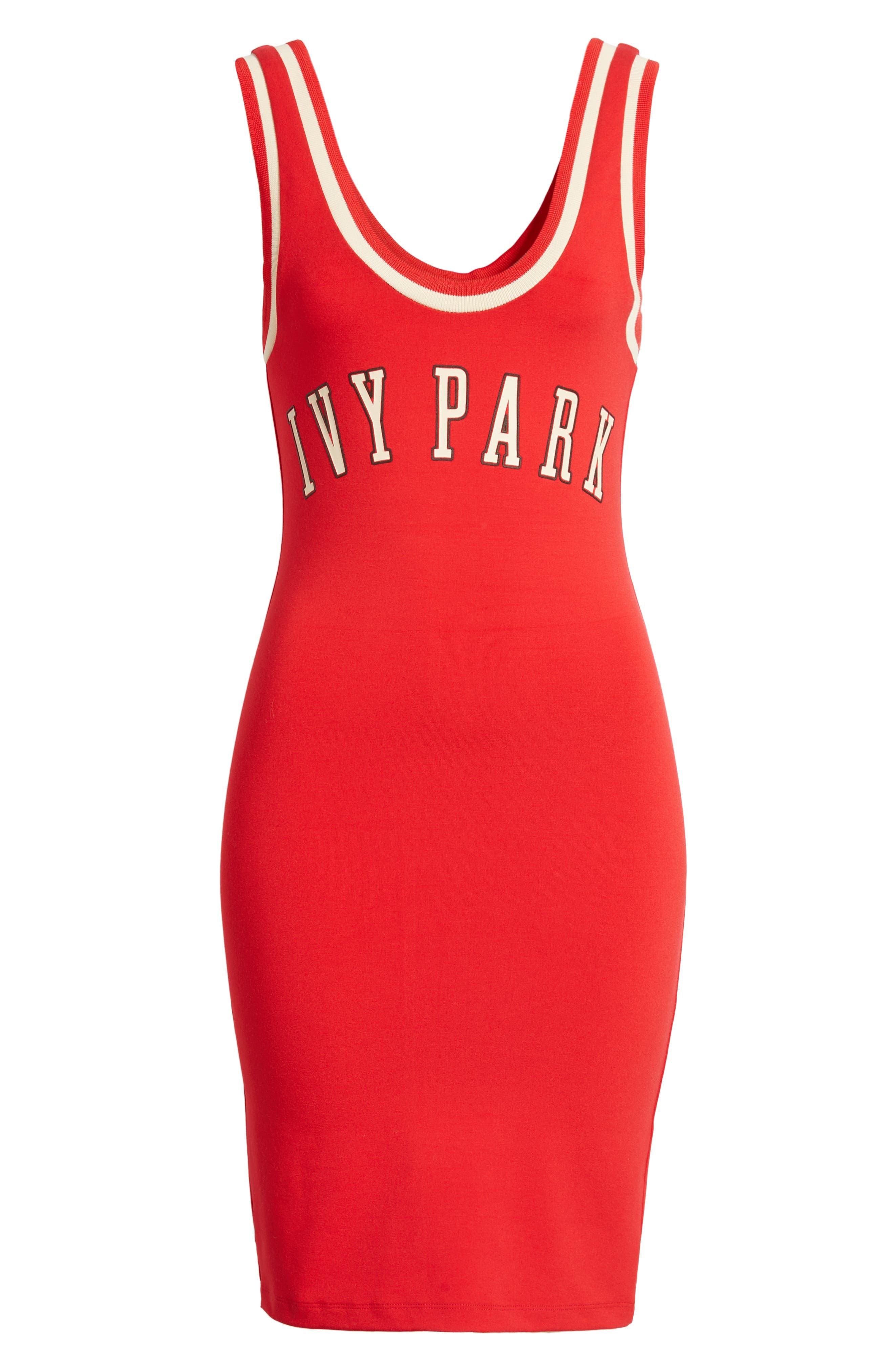 ,                             Baseball Logo Jersey Body-Con Dress,                             Alternate thumbnail 7, color,                             600