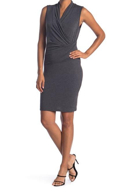 Image of Love Stitch Sleeveless Faux Wrap Dress