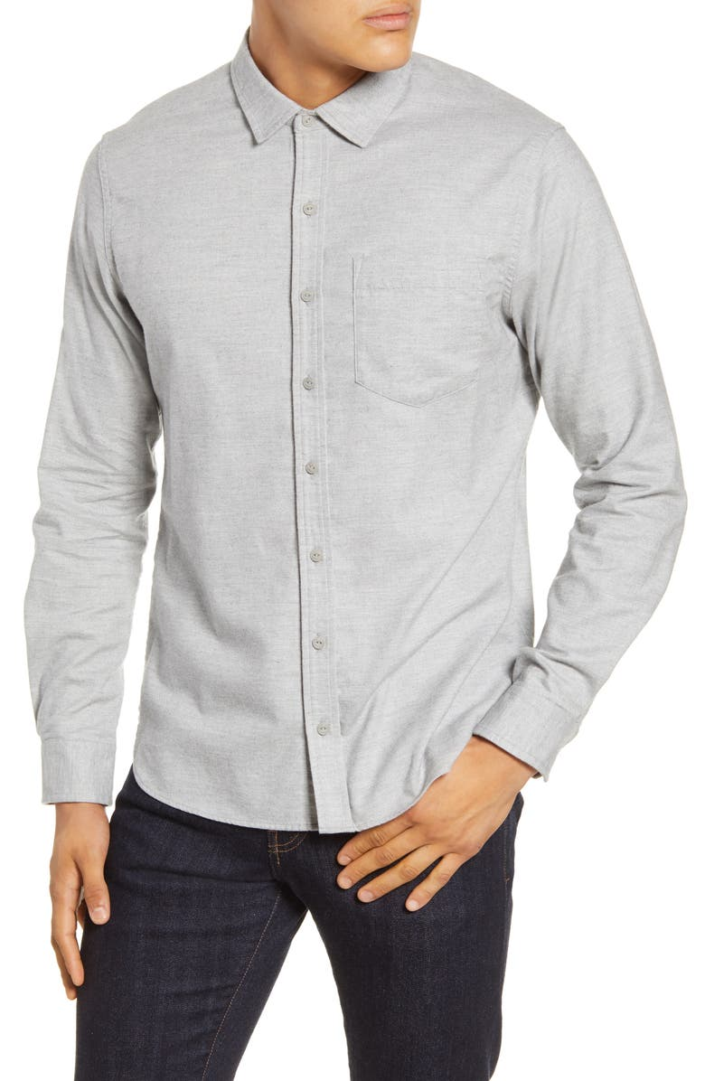 WINGS + HORNS Button-Up Flannel Shirt, Main, color, 032