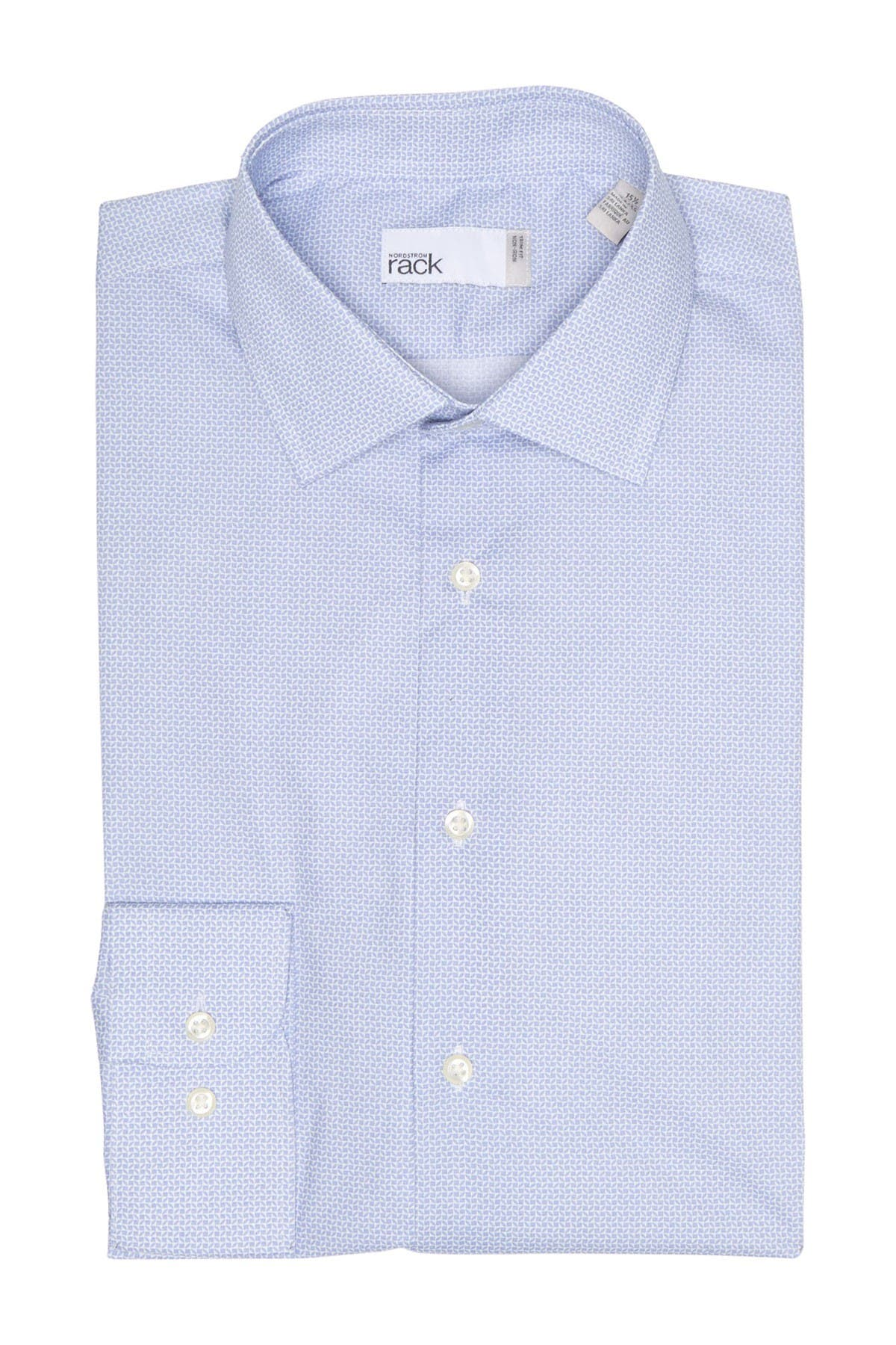 Image of Nordstrom Rack Geo Print Non-Iron Trim Fit Dress Shirt