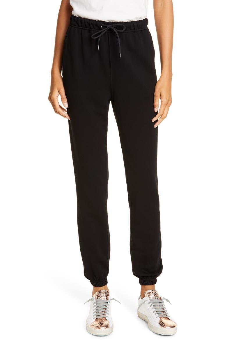 COTTON CITIZEN Milan Sweatpants, Main, color, JET BLACK