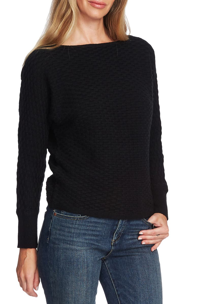 VINCE CAMUTO Dolman Sleeve Sweater, Main, color, RICH BLACK