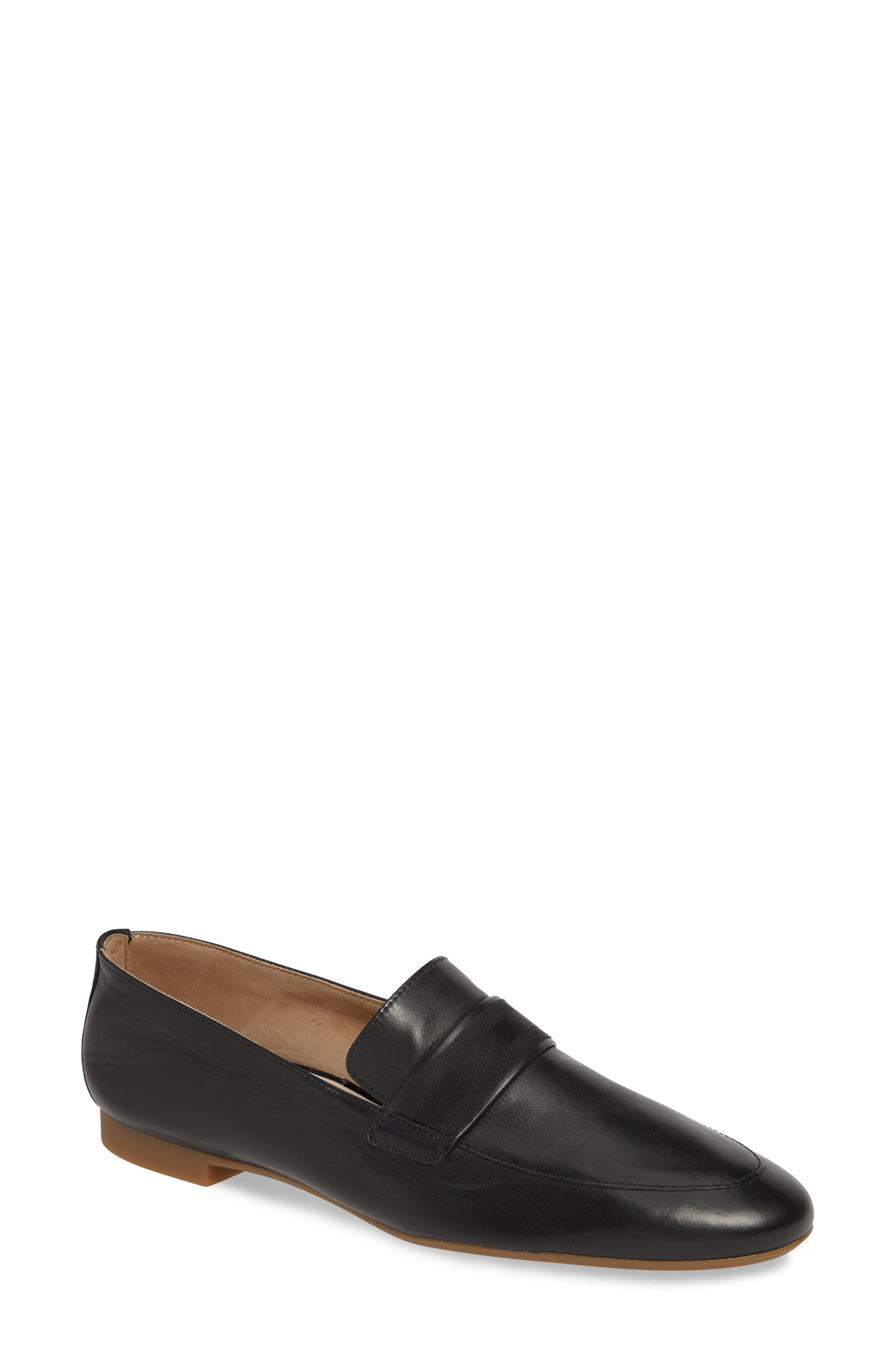,                             Adelle Loafer,                             Main thumbnail 1, color,                             BLACK LEATHER