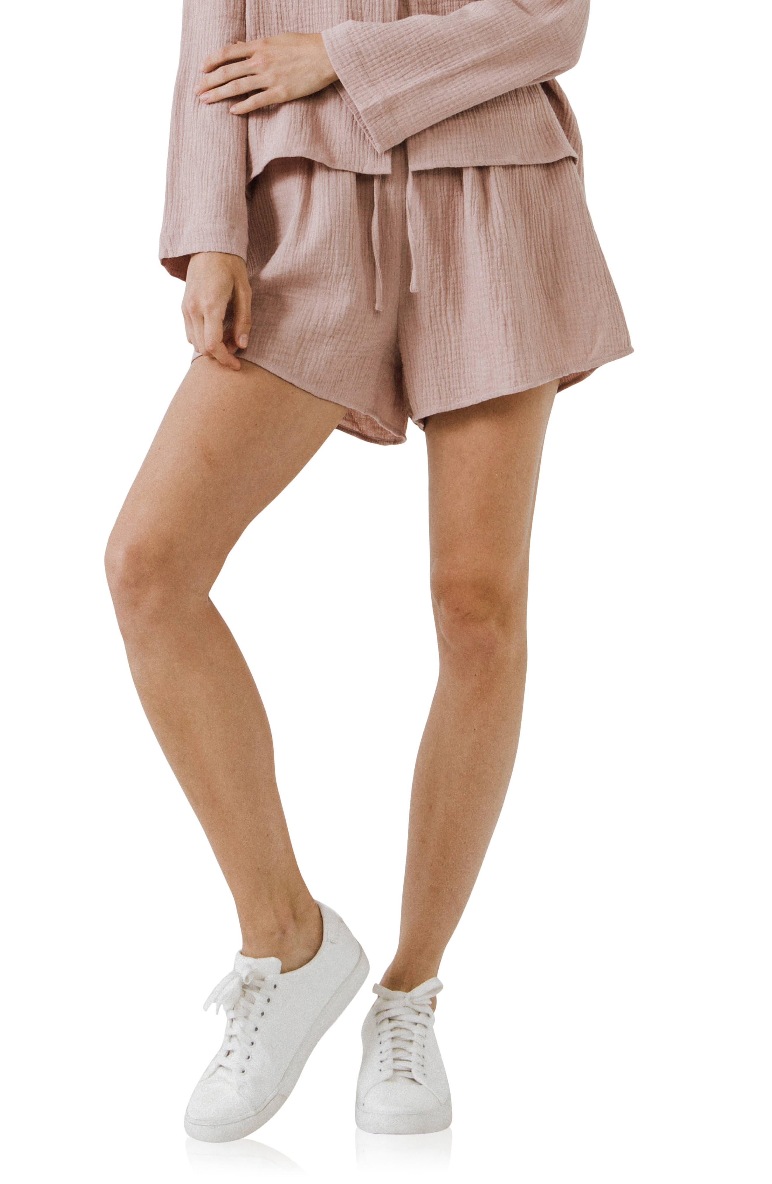 Tie Waist Gauze Shorts
