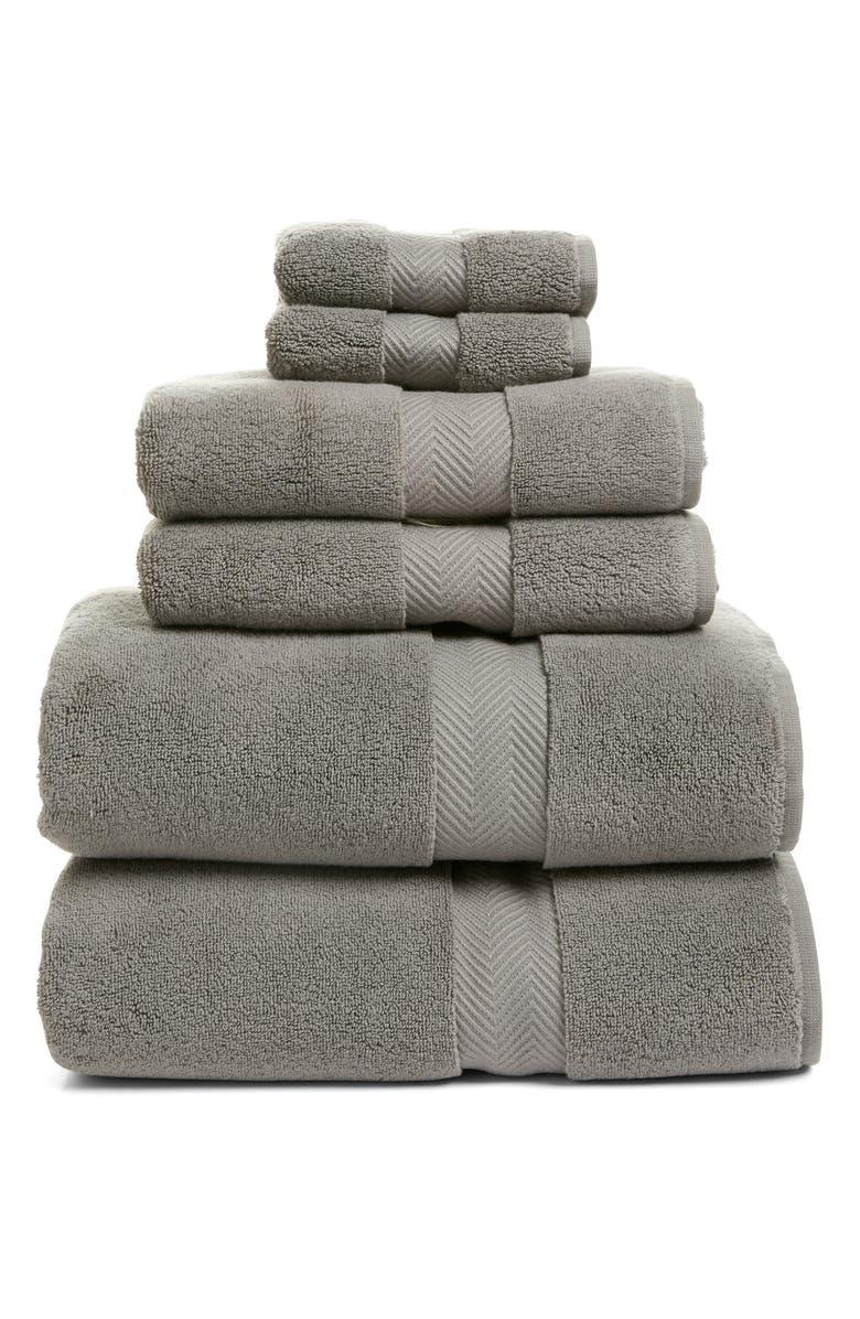 NORDSTROM 6-Piece Hydrocotton Bath Towel, Hand Towel & Washcloth Set, Main, color, GRAPHITE