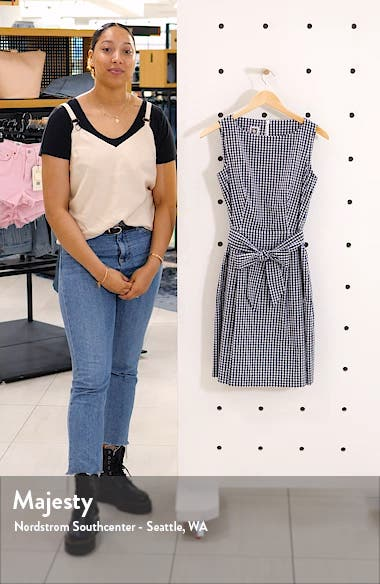 Gingham Fit & Flare Dress, sales video thumbnail