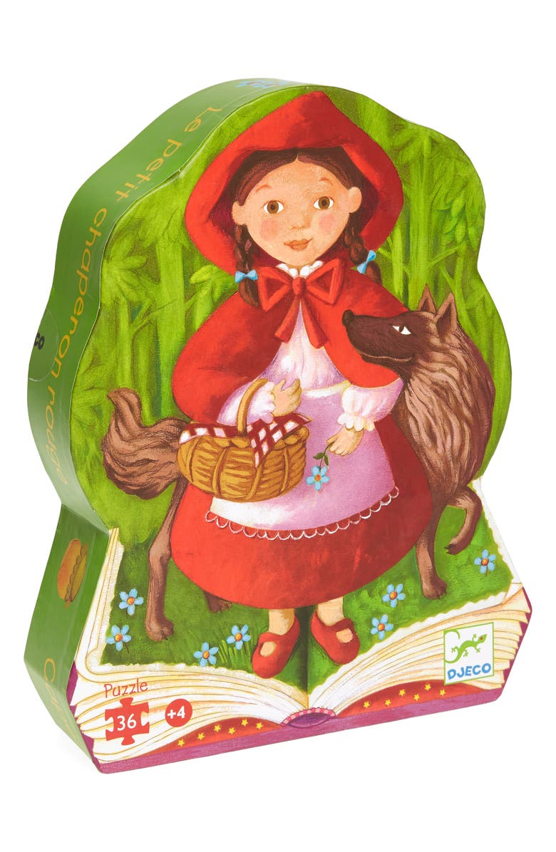 DJECO Little Red Riding Hood 36-Piece Puzzle, Main, color, 960