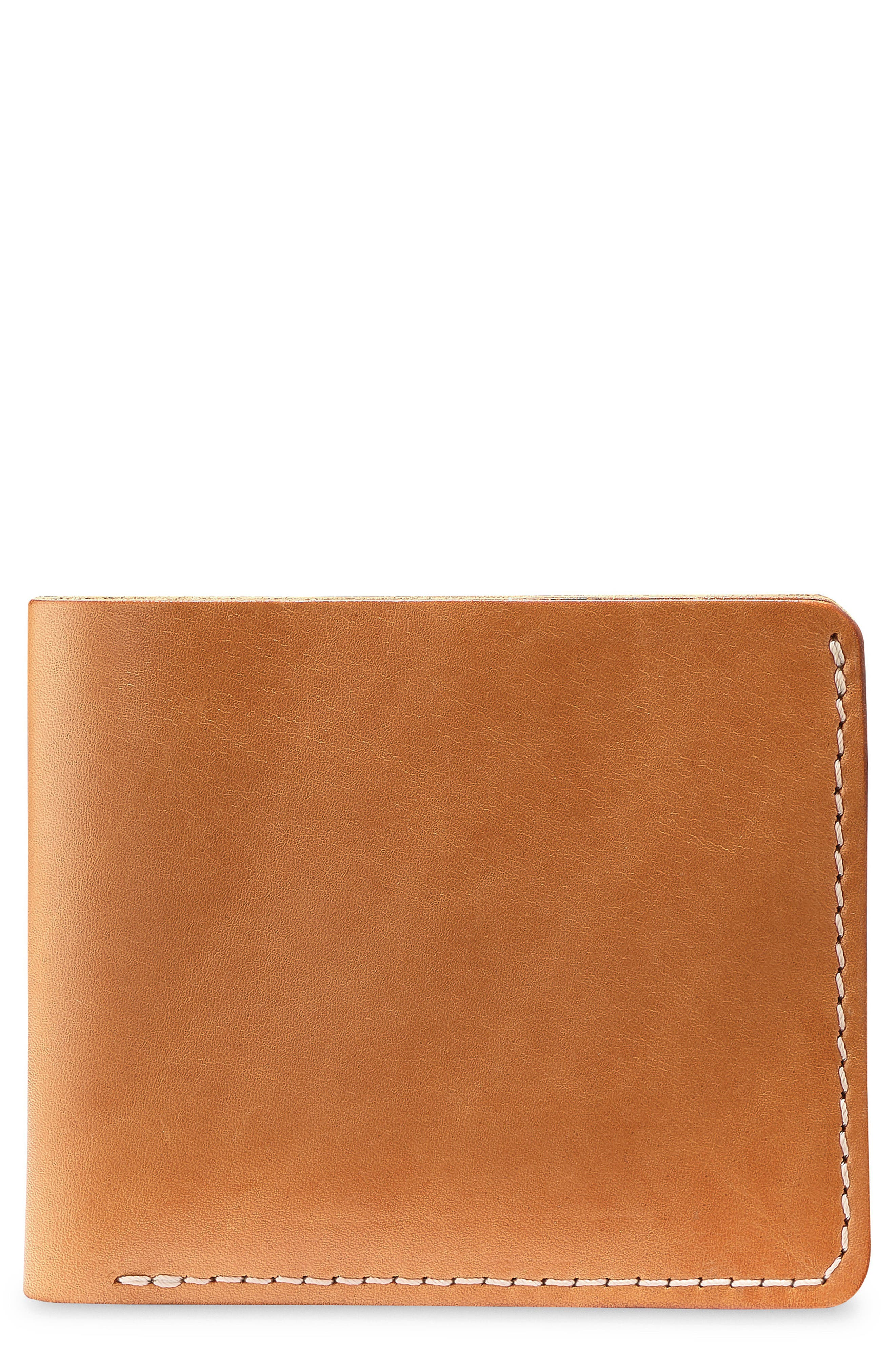 Classic Bifold Leather Wallet, Main, color, TANNED VEGETABLE