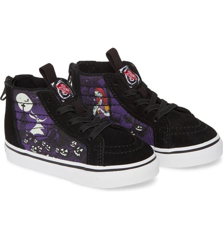 VANS The Nightmare Before Christmas Sk8-Hi Zip Sneaker, Main, color, JACKS LAMENT/ NIGHTMARE