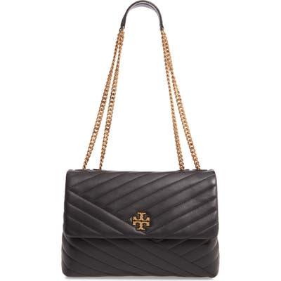 Tory Burch Kira Chevron Leather Crossbody Bag - Black