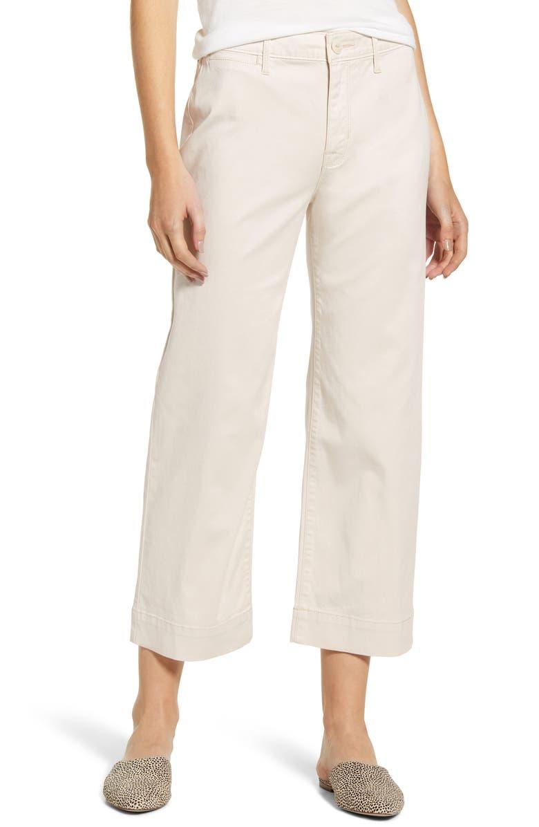 SANCTUARY Wide Leg Cropped Pants, Main, color, SALT