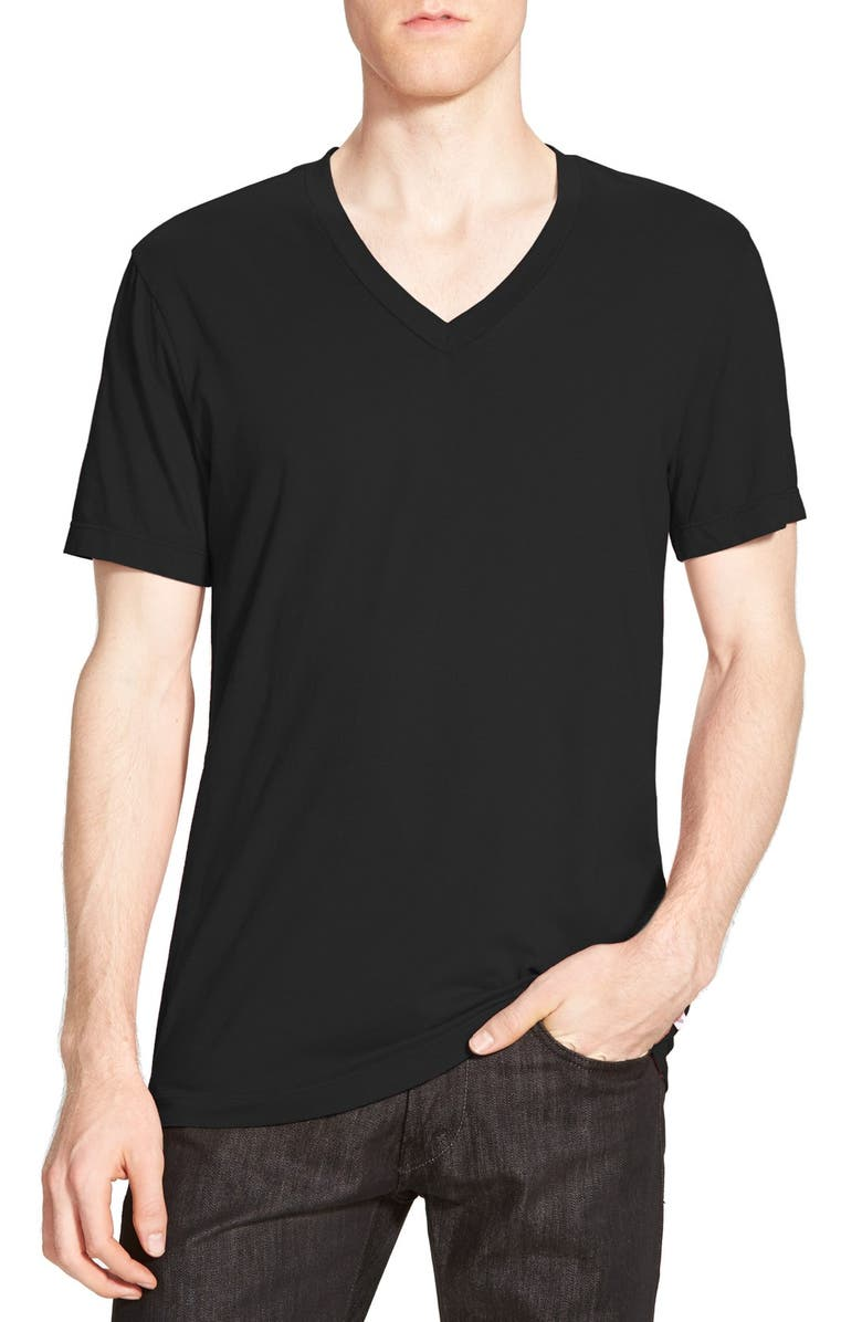 JAMES PERSE Short Sleeve V-Neck T-Shirt, Main, color, 001