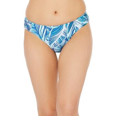 La Blanca Sketched Reversible Bikini Bottoms, Blue