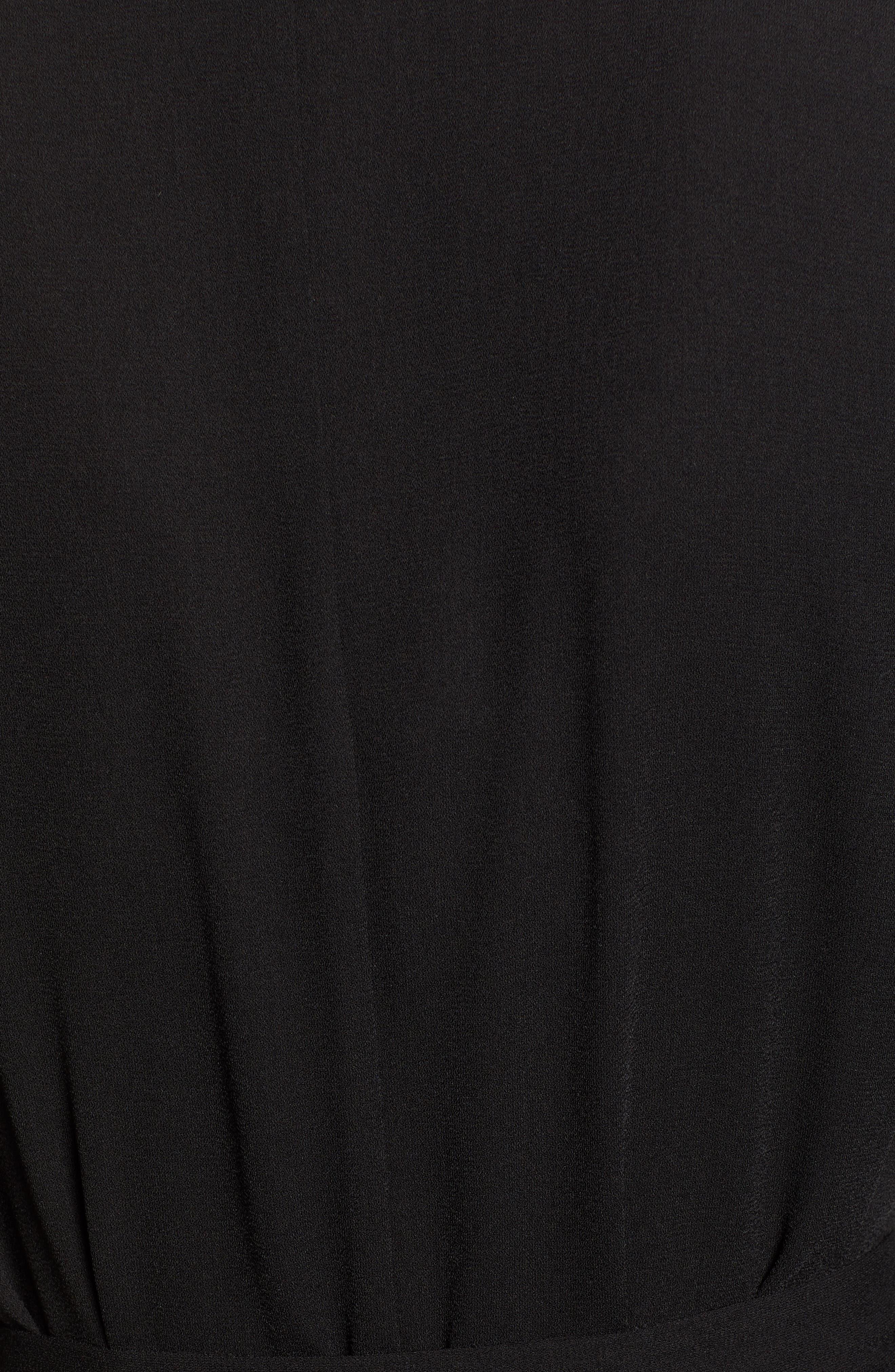 ,                             Tie Waist Jumpsuit,                             Alternate thumbnail 6, color,                             BLACK