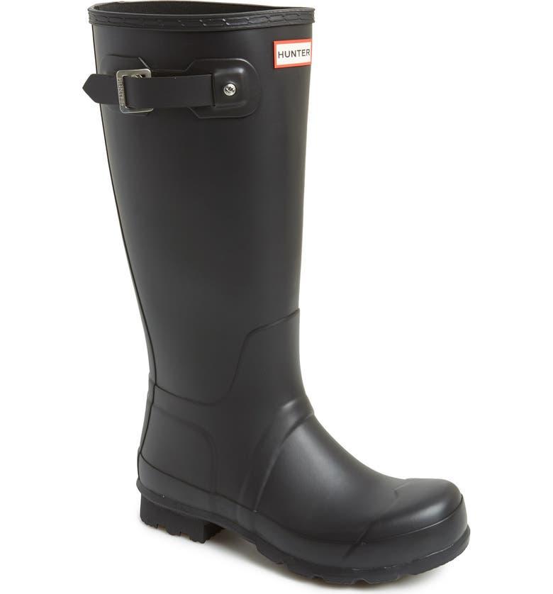 HUNTER 'Original Tall' Rain Boot, Main, color, BLACK