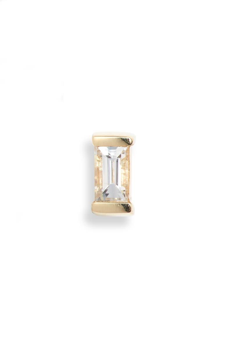 MARIA TASH Diamond Baguette Stud Earring, Main, color, YELLOW GOLD