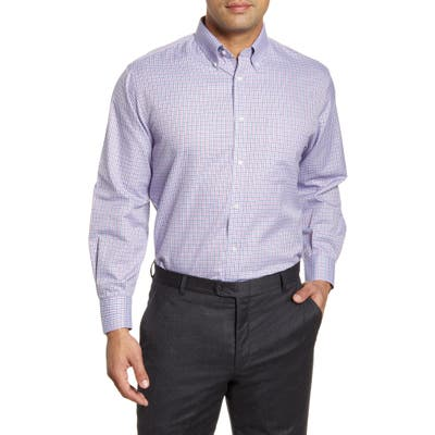 Nordstrom Shop Smartcare(TM) Classic Fit Check Dress Shirt - Red