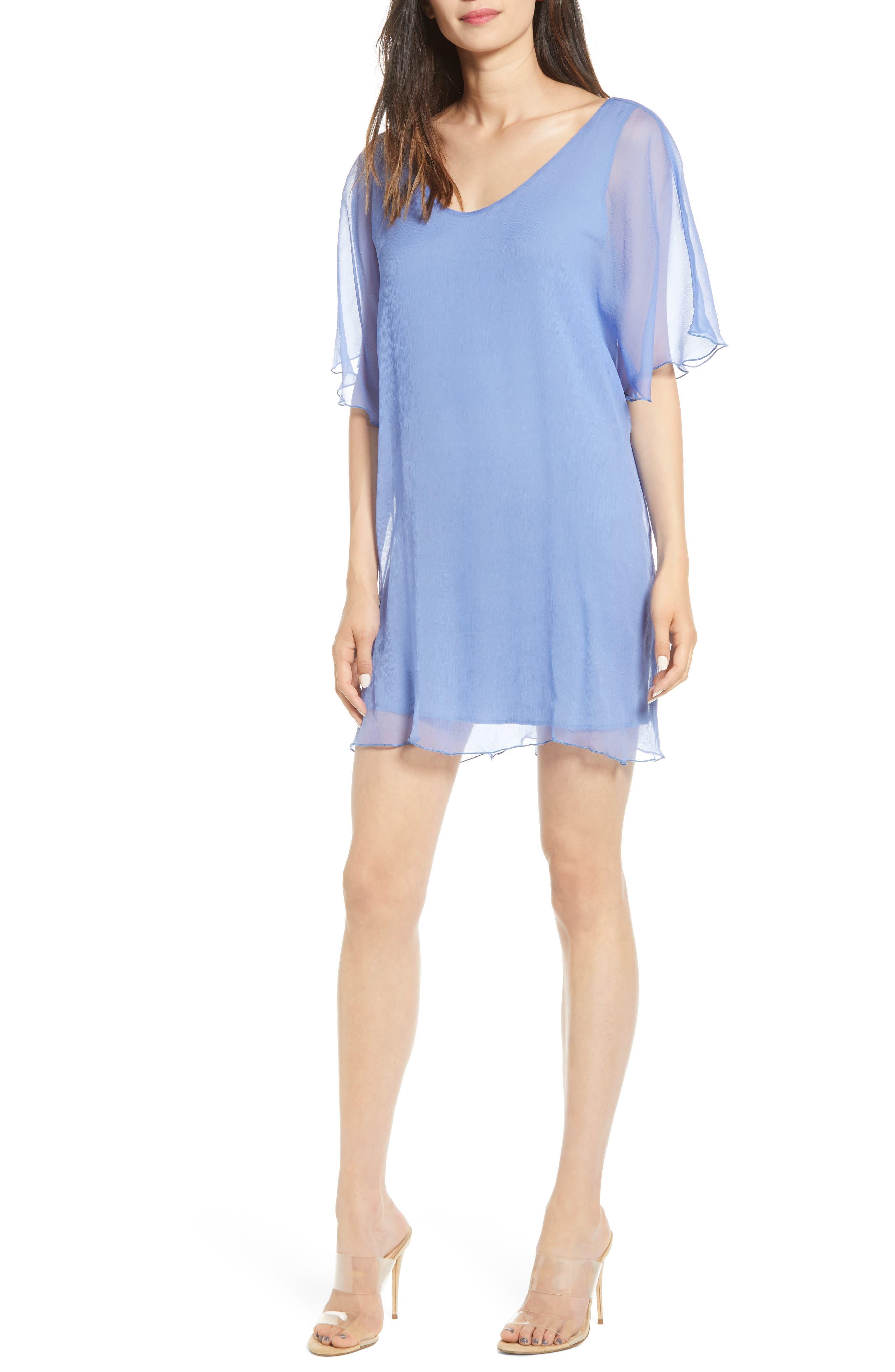 Bailey 44 Demeter Silk Shift Dress, Blue