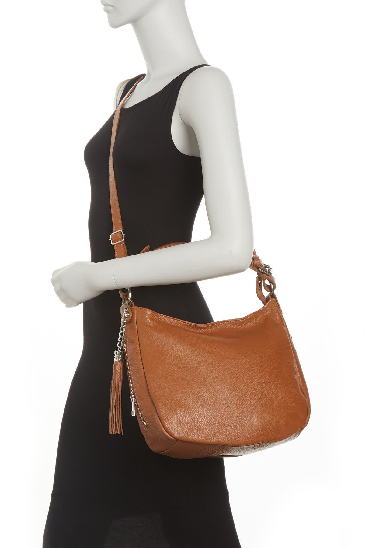 Image of Massimo Castelli Top Handle Leather Crossbody Bag
