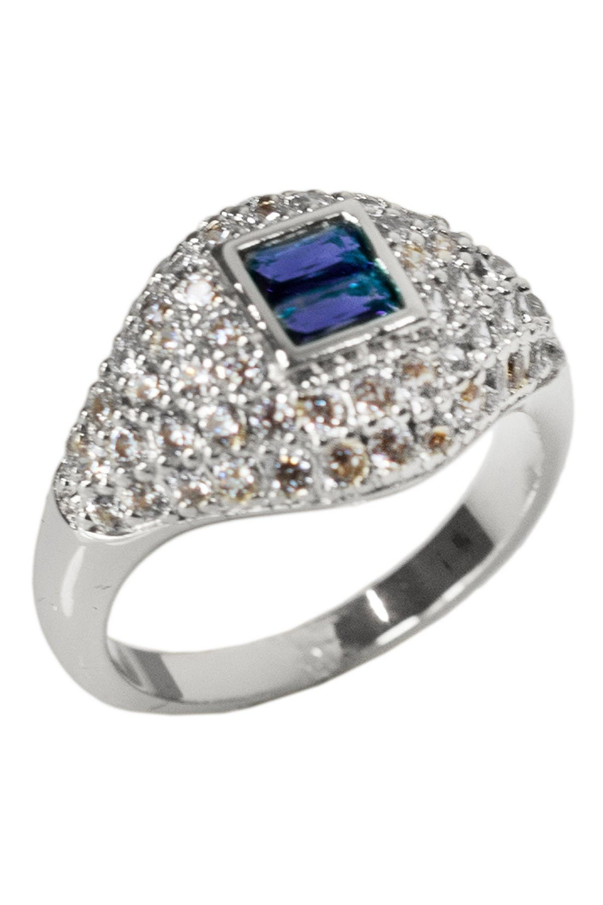 Image of CZ By Kenneth Jay Lane Pave CZ Signet Pinky Ring