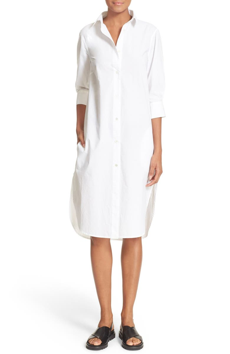 FRAME 'Le Poplin' Cotton Shirtdress, Main, color, 120