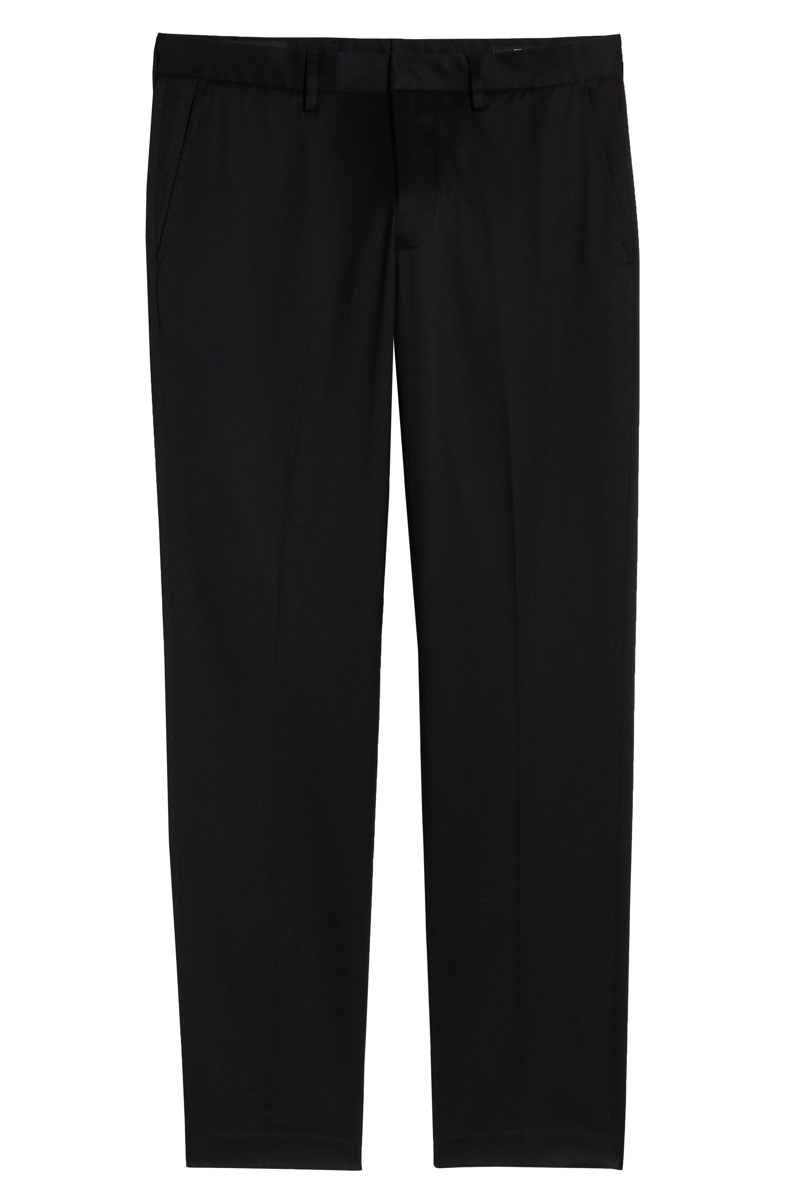 ,                             Athletic Fit Non-Iron Chinos,                             Alternate thumbnail 7, color,                             BLACK CAVIAR