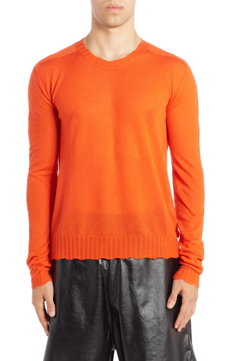 BOTTEGA VENETA Cashmere Crewneck Sweater, Main, color, ORANGE