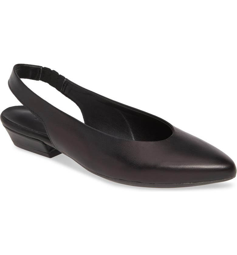 THE FLEXX Prato Slingback Pump, Main, color, BLACK VACCHETTA LEATHER