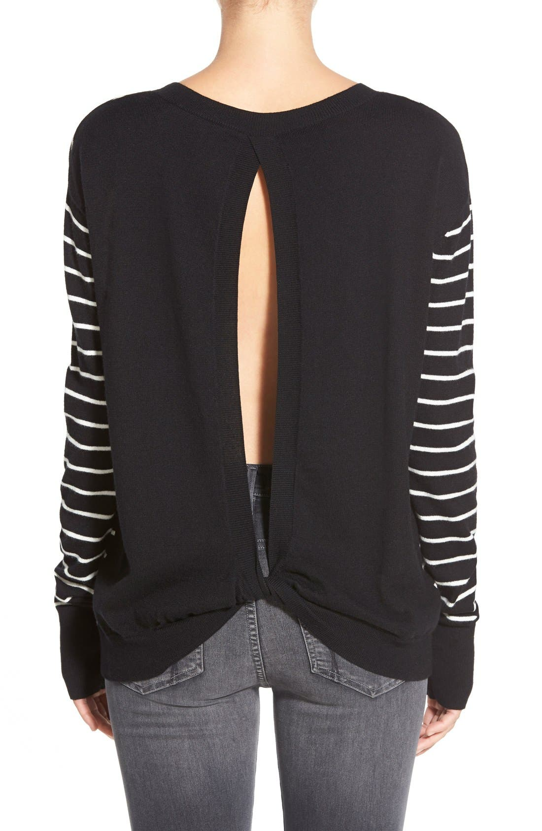 ,                             Twisted Back Pullover,                             Alternate thumbnail 3, color,                             001