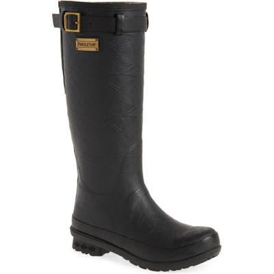 Pendleton Embossed Tall Waterproof Rain Boot, Black
