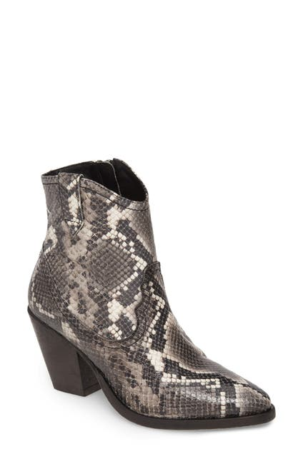 Image of ALLSAINTS Rolene Snake Embossed Leather Bootie