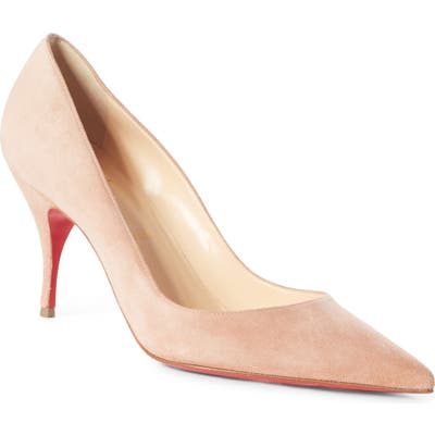 Christian Louboutin Clare Pointy Toe Pump, Beige