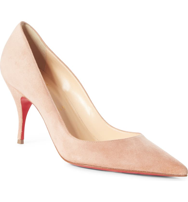 CHRISTIAN LOUBOUTIN Clare Pointy Toe Pump, Main, color, TAN