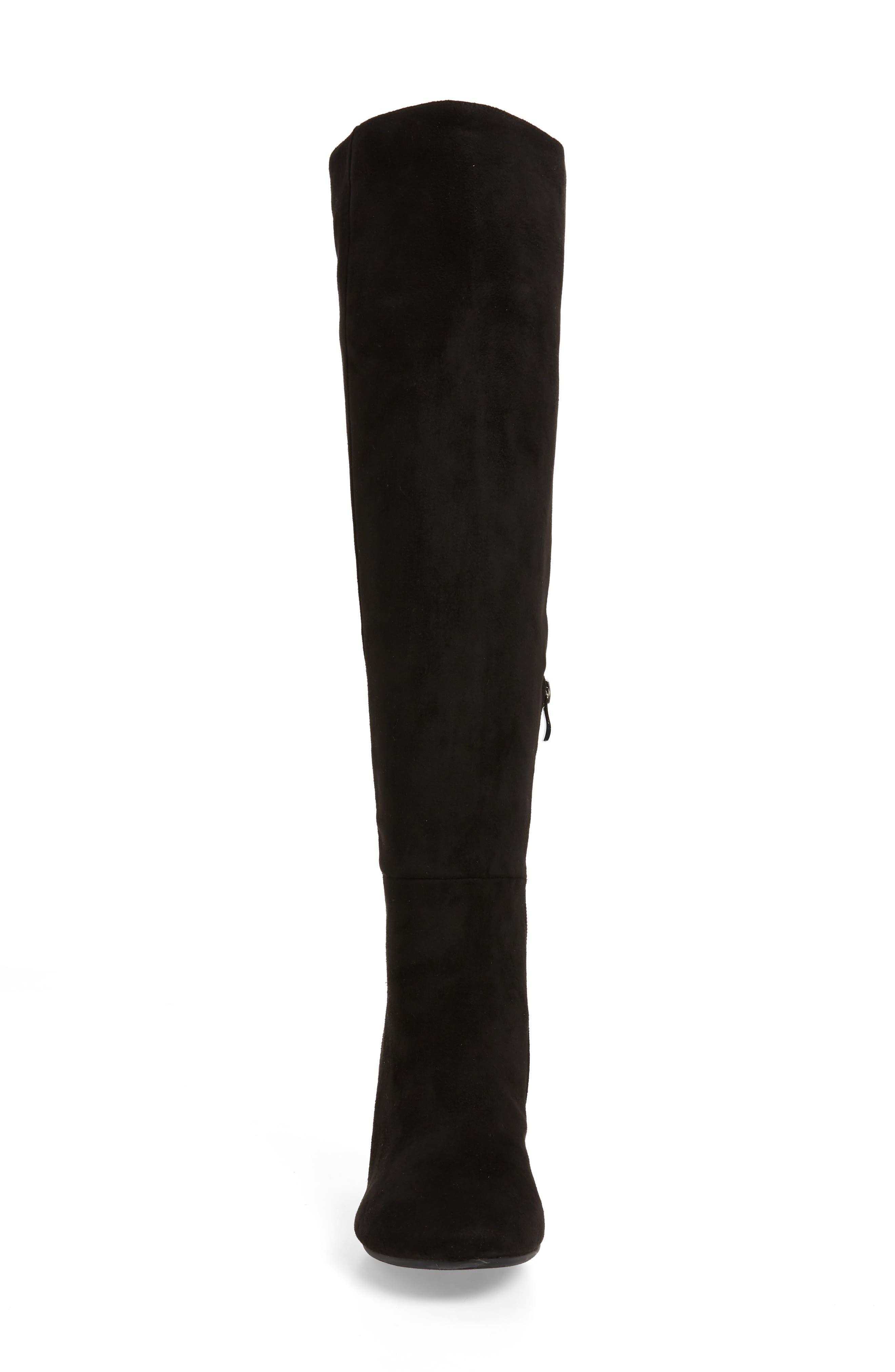 ,                             Ellaria Over the Knee Boot,                             Alternate thumbnail 4, color,                             BLACK FABRIC