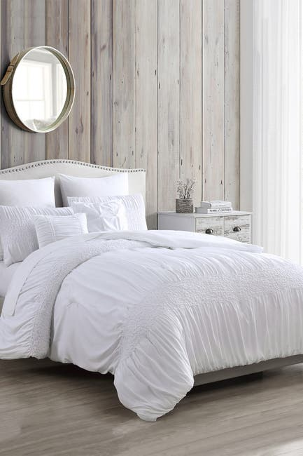 Image of Modern Threads 7-Piece Solid Textured Comforter Set - Ashley - King