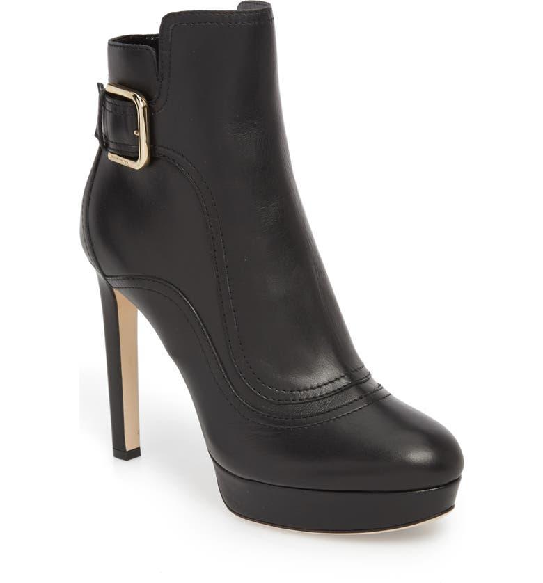 JIMMY CHOO Britney Platform Boot, Main, color, BLACK
