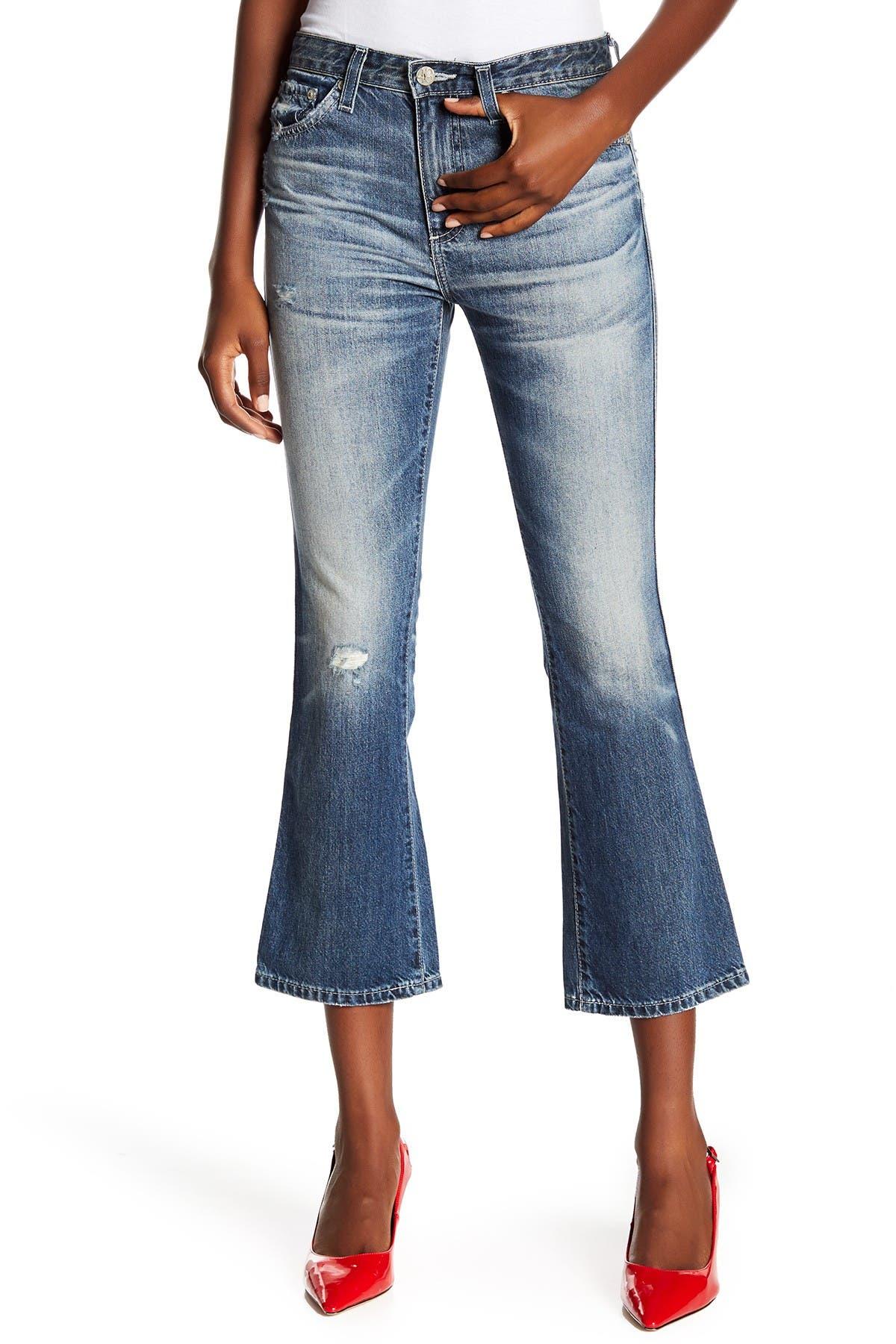 Ag Jodi High Rise Slim Fit Cropped Flare Leg Jeans Nordstrom Rack