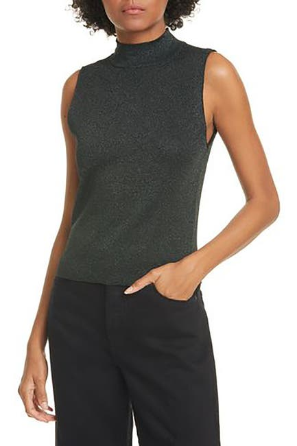 Image of alice + olivia Lanie Sleeveless High Neck Pullover