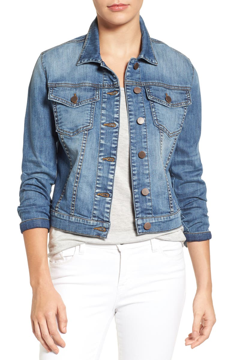 KUT FROM THE KLOTH 'Helena' Denim Jacket, Main, color, EMPATHETIC