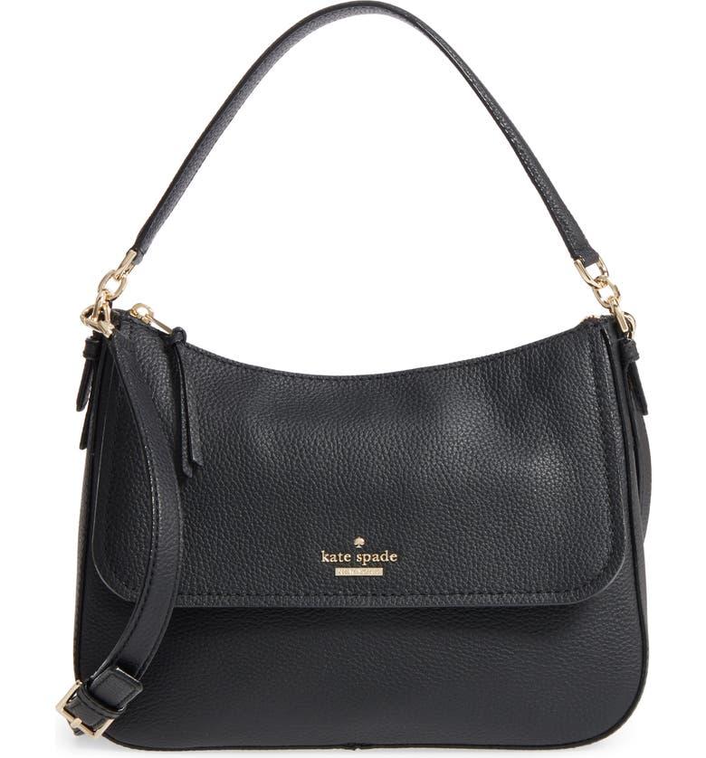 KATE SPADE NEW YORK jackson street - colette leather satchel, Main, color, 001